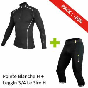 Pack Homme Pointe Blanche + Leggin 3/4 Le Sire